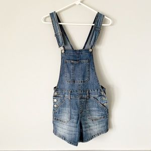 RSQ Collective Denim Overall Shorts XS
